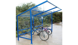 Double Extended Bike Shelter