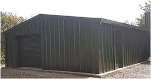 8.00 x 10.00m Insulated Steel Workshop or Kit Store