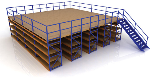 Steel Mezzanine Floor with Shelving