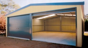 9 00 X 5 00m Steel Double Garage Double Garages Bonds
