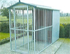 Single Bay Fully Galvanised Outdoor Kennel - 10ft x 4ft