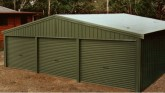 9.60 x 6.00m Steel Triple Garage